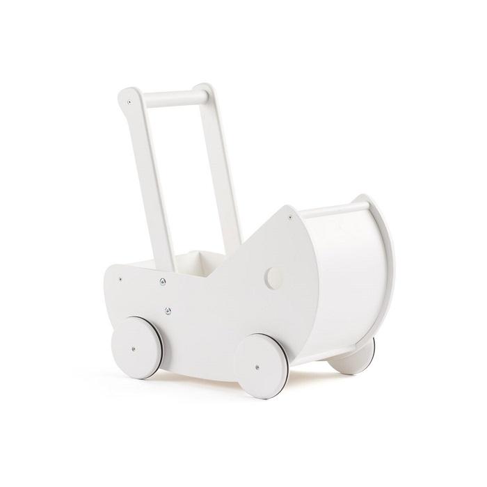 Kids Concept - Drewniany Wózek dla Lalek White