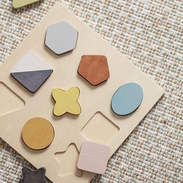 Kids Concept - Puzzle Drewniane Kształty Geometryczne
