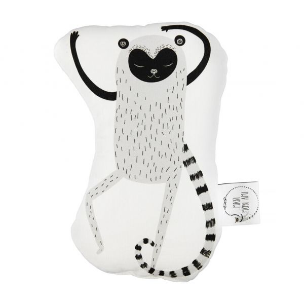 Maki Mon Ami - Mini Poduszka do Przytulania Lemur Leon