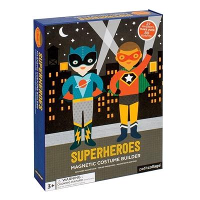 Petit Collage - Magnetyczne Ubieranki Superbohaterowie