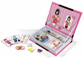 Janod - Magnetyczne Pudełko - Dziewczynka