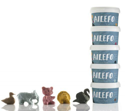 Ailefo - Organiczna Ciastolina Duże Opakowanie Brąz 540g