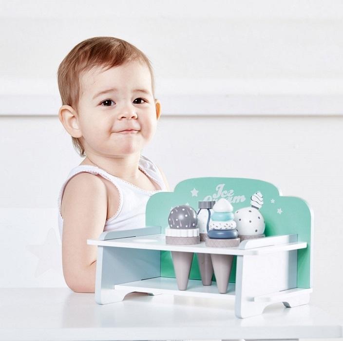 Kids Concept - Zestaw Lodów Drewnianych