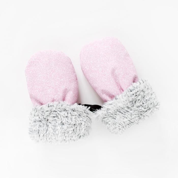Juddlies - Rękawiczki Salt& Pepper Pink L 6-12m