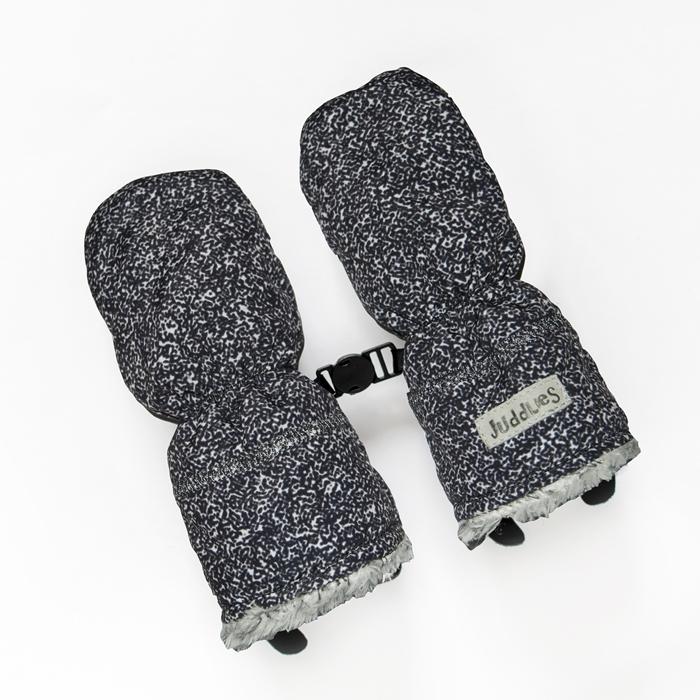 Juddlies - Rękawiczki Salt& Pepper Black S 0-6m