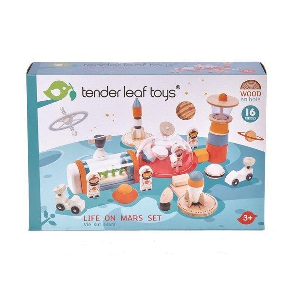 Tender Leaf Toys - Drewniana Stacja Kosmiczna Życie na Marsie 3+