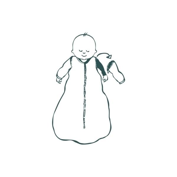 Jollein - Śpiworek z Odpinanymi Rękawami Little Lin Teal 18-36 miesięcy