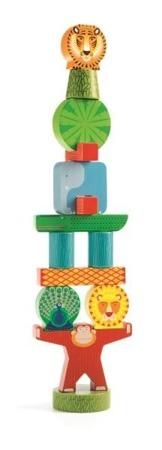 Djeco - Zabawka Wczenorozwojowa Stacky Jungle 18m+