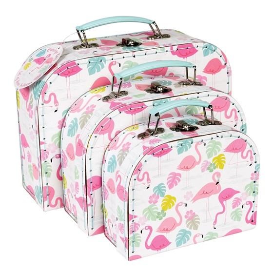 701b2bbdc92bf Rex - Zestaw Walizek Flamingo / Walizki / Plecaki, walizki, torby ...