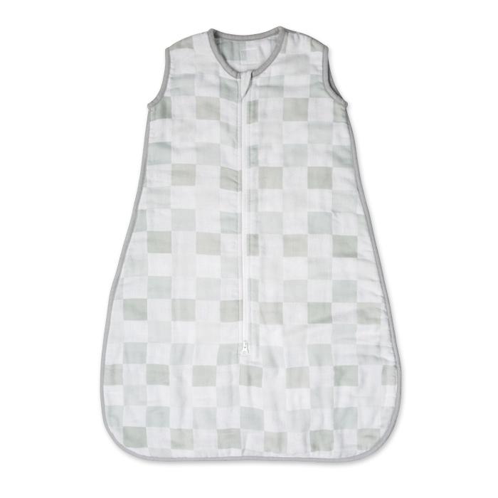 Lulujo - Luxe Śpiworek Muślinowy Grey 0-6 miesięcy