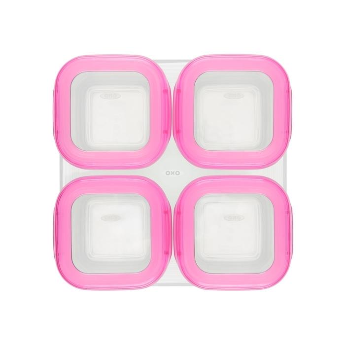 OXO - Pojemniki do Zamrażania 4 szt Pink