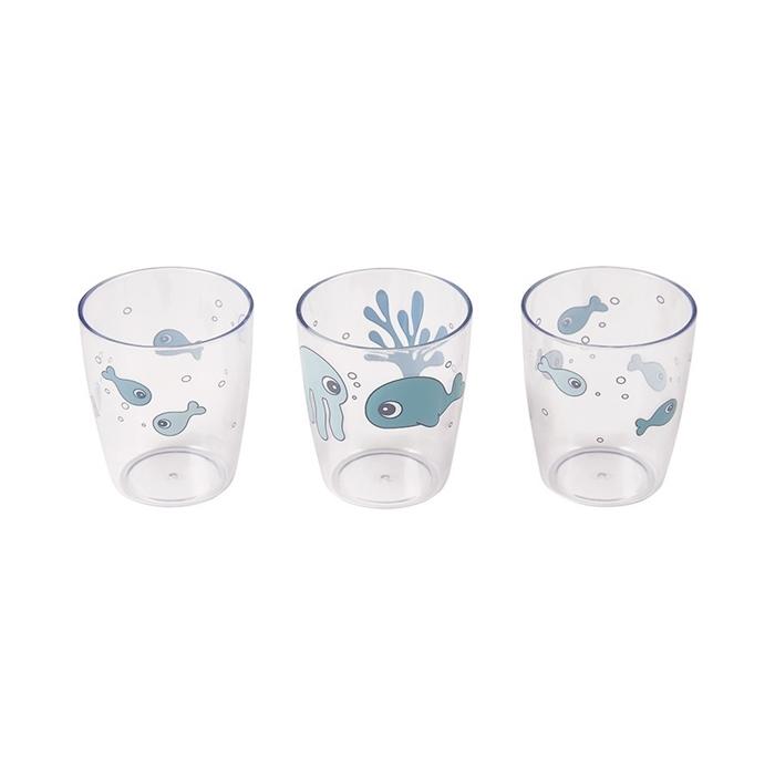 Done By Deer - Sea Kubki Mini Glass Blue