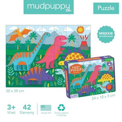 Mudpuppy - Puzzle Sensoryczne z Miękkimi Aplikacjami Dinozaury 42 elementy 3+
