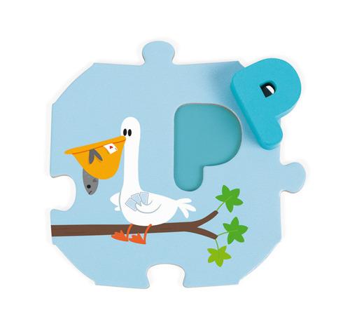Janod - Puzzle Uczę się Alfabetu Wersja Angielska
