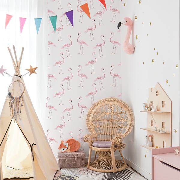 Dekornik - Tapeta Flamingi