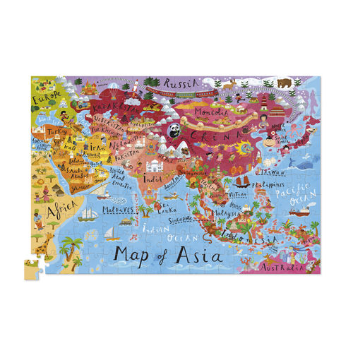 Crocodile Creek - Puzzle 200el. Mapa Azji