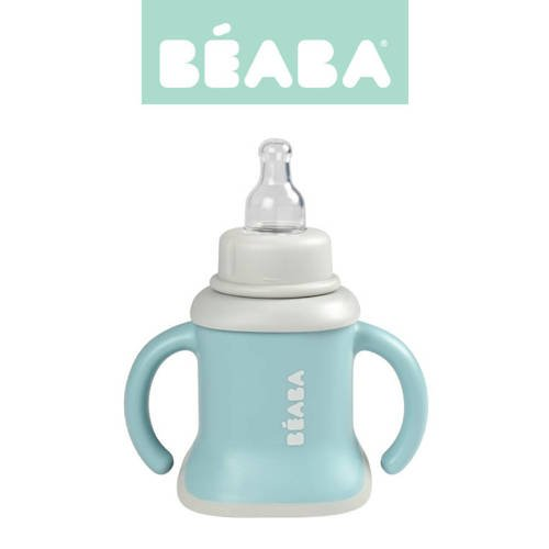 Beaba - Kubeczek Evoluclip 3w1 airy green
