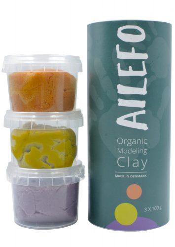 Ailefo - Organiczna Ciastolina Forest Colors Mini Tuba 3 Kolory po 100 g