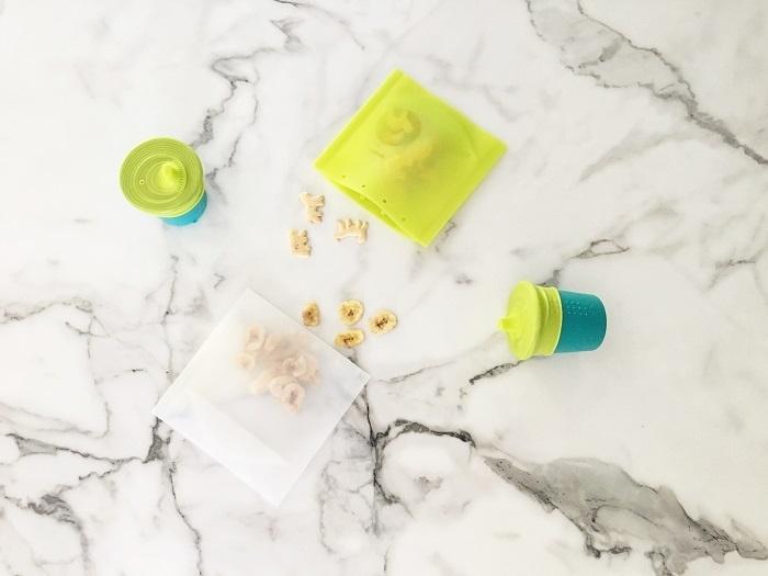 Silikids - Torebki Silikonowe na Żywność Clear/Lime