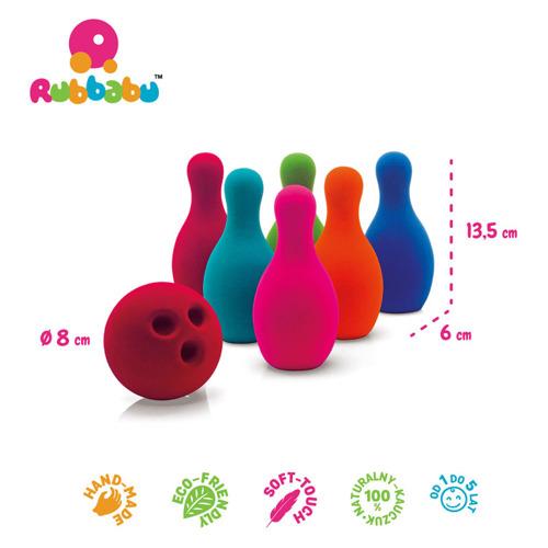 Rubbabu - Kręgle Zestaw do Gry Sensoryczny