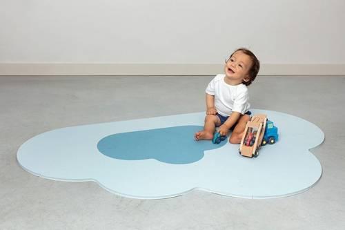 Quut - Mata do Zabawy Piankowa Podłogowa Chmurka Playmat Dusty Blue