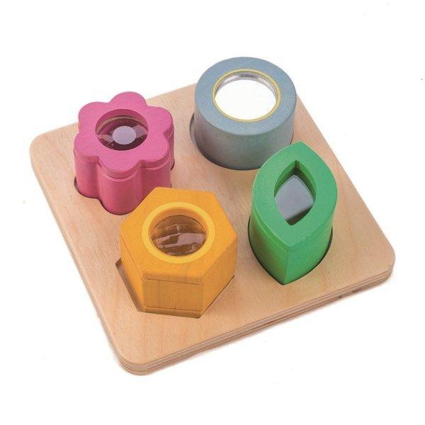 Tender Leaf Toys - Drewniane Zabawka Sensoryczna Kwiaty Zabawka Optyczna 18m+
