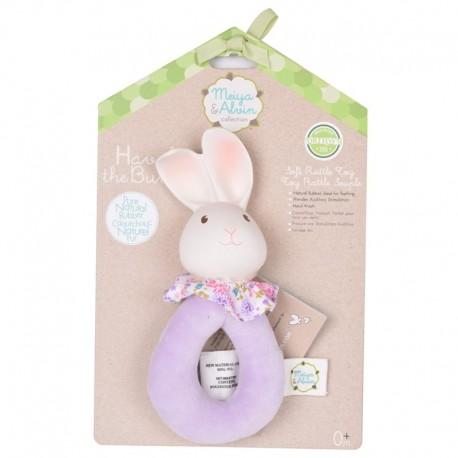 Meiya & Alvin - Havah Bunny Soft Rattle with Organic Teether Head