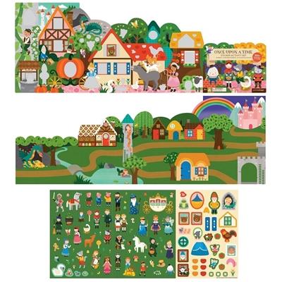 Petit Collage - Naklejki z Planszą Baśnie