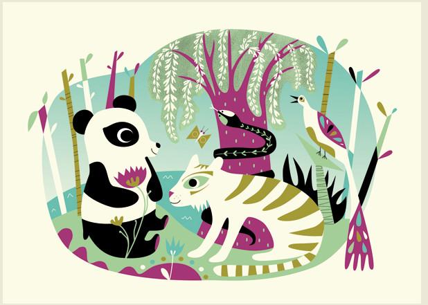OMM Design Zestaw Pocztówek Animals Rendez-Vous