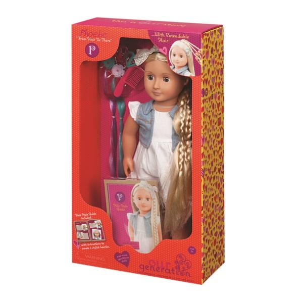 OurGeneration - Lalka Phoebe z Regulowanymi Włosami 46cm 3+