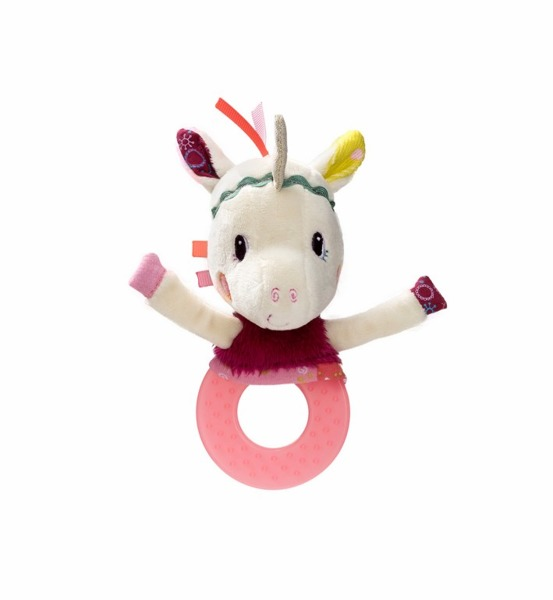 Lilliputiens - Grzechotka z Gryzakiem Jednorożec Louise 3m+