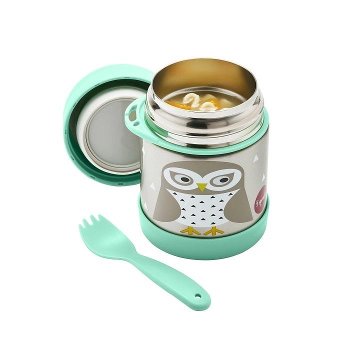 3 Sprouts - Termos dla Dzieci Sowa Mint