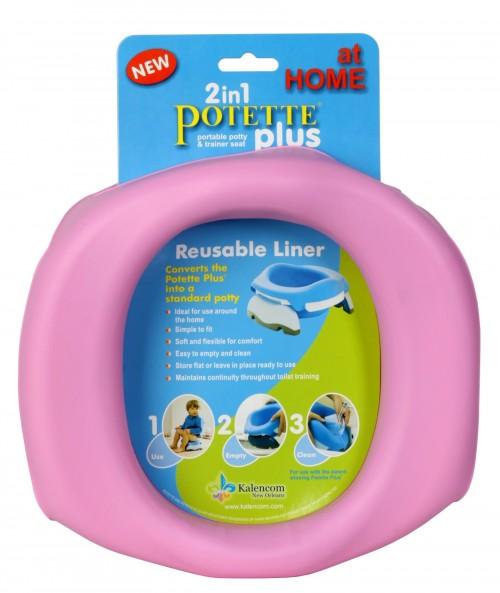 Potettee Plus - Silikonowy Wielorazowy Wkład na Nocnik Różowy