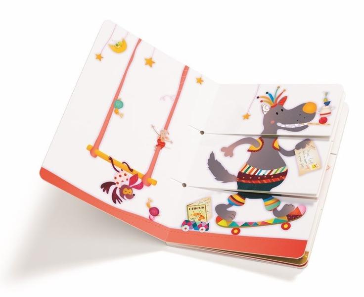 Lilliputiens - Książka Przekładanka Cyrk