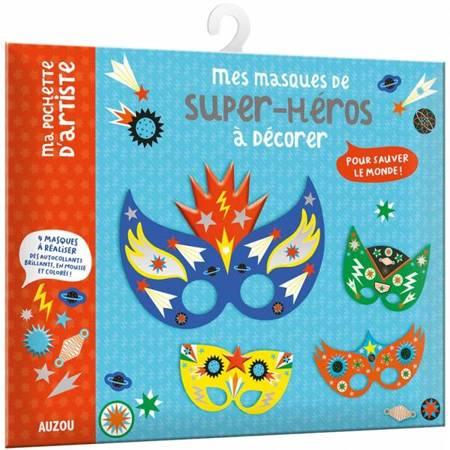 Auzou - Maski do Zdobienia Super bohaterowie 7+