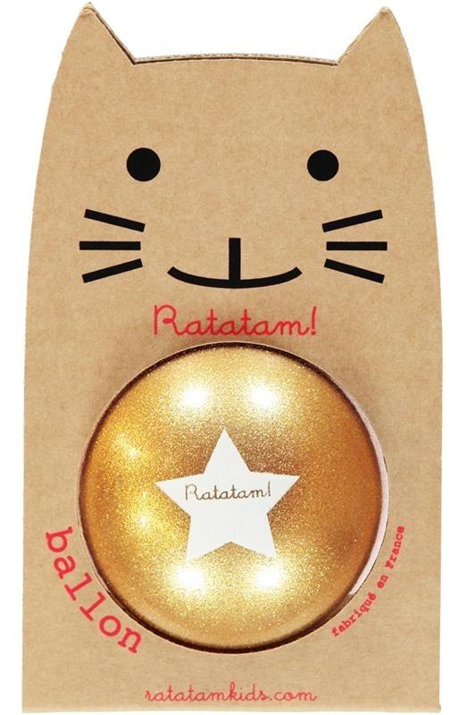 Ratatam - Piłka Mała 15 cm Glitter Gold