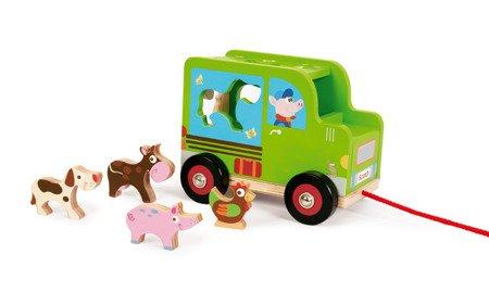Scratch - Samochód Sorter do Ciągnięcia Farma