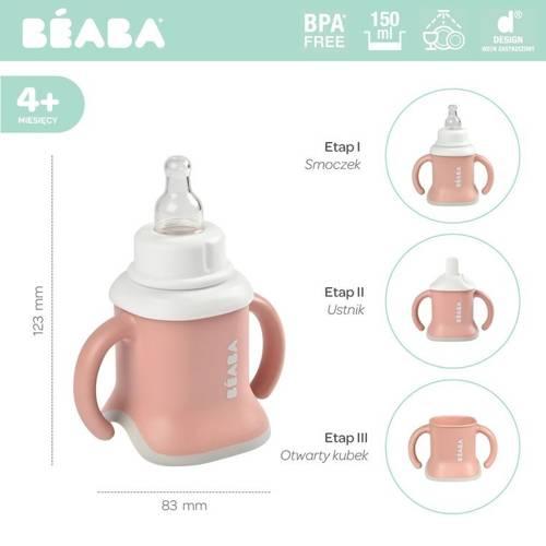 Beaba - Kubeczek Evoluclip 3w1 old pink