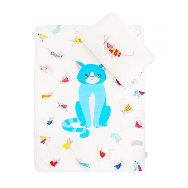 Maki Mon Ami - Satynowa Pościel z Wypełnieniem L Kot Stefan