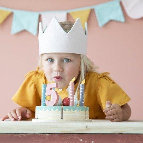 Little Dutch - Duży Drewniany Torcik Urodzinowy