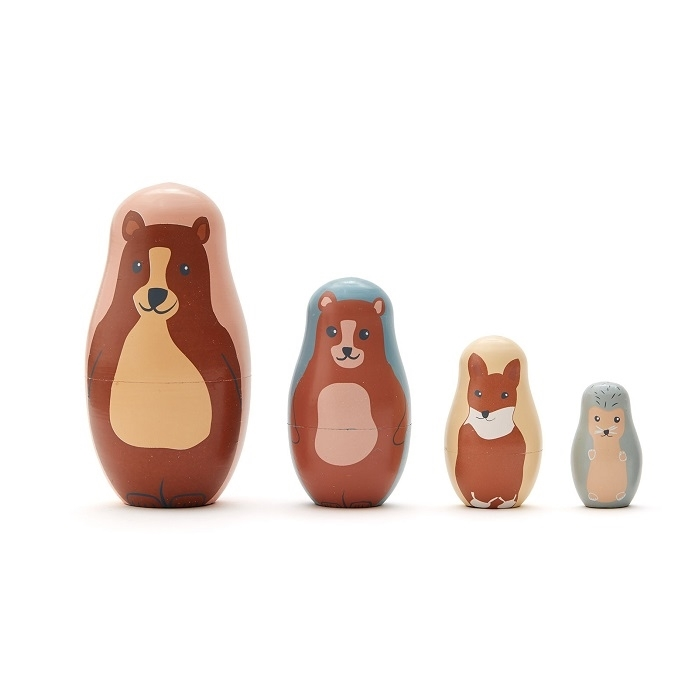 Kids Concept - Edvin Matrioszki Zwierzęta