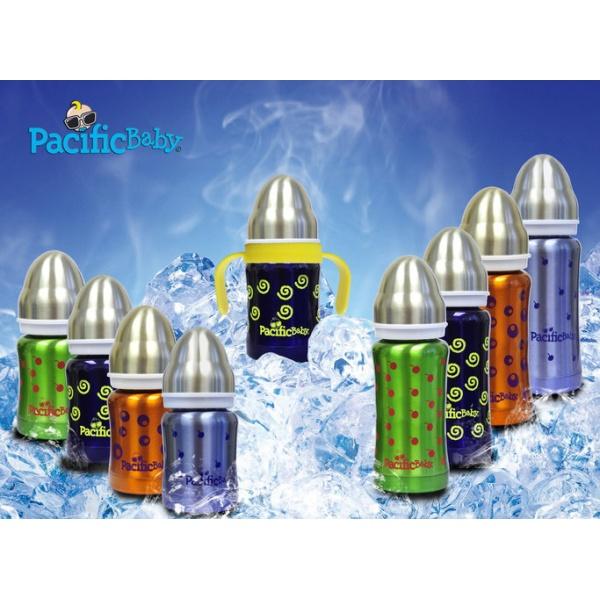 Pacificbaby - Butelka ze Smoczkiem GroGrow 300 ml Silver Blue