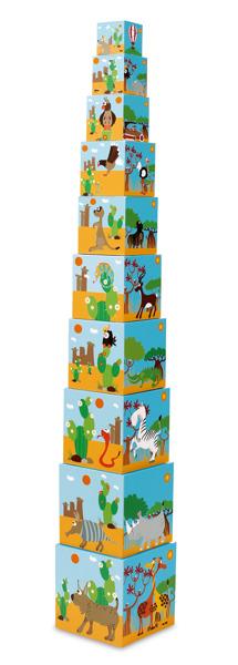 Scratch - Piramida Edukacyjna Zwierzęta Świata 1+