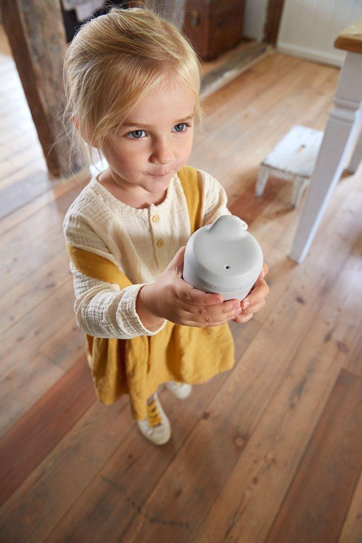 Lassig - Kubek z Silikonową Pokrywką z Dziubkiem Little Chums Kot