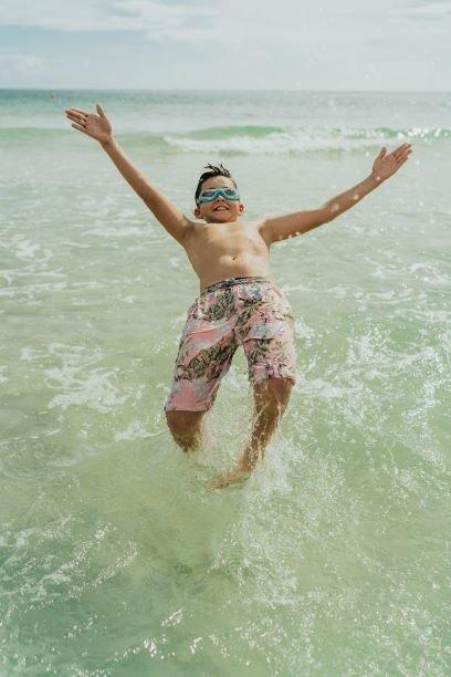 Bling2O - Okulary do Pływania Szczęki Rekina Red 6+
