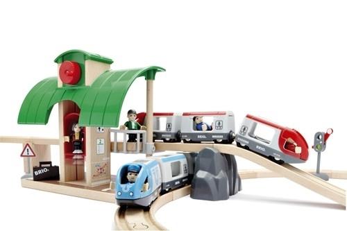 BRIO - World Zestaw Kolejowy z Dworcem