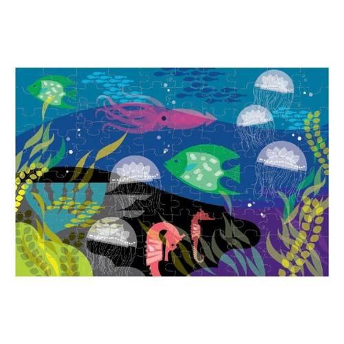 Mudpuppy - Puzzle Świecące w Ciemności Pod wodą 100 elementów 5+