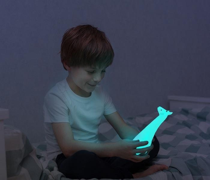 Zazu - Lampka z Latarką Żyrafa Gina Blue