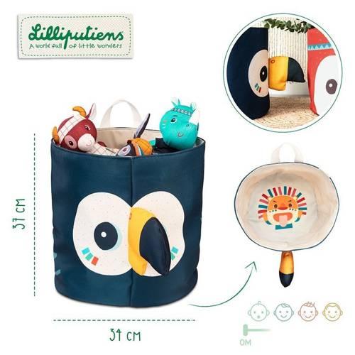 Lilliputiens - Kosz na Zabawki Tukan Pablo 0m+