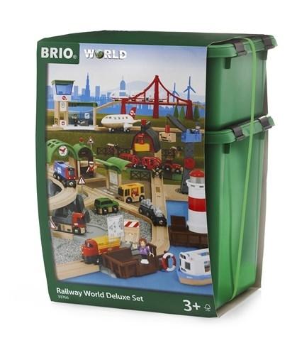 BRIO - World Zestaw Kolejki Drewnianej Deluxe